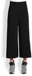 Proenza Schouler black stretch wool culottes