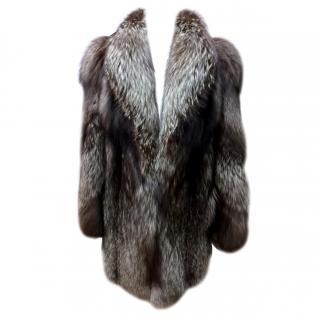 Higgs Silver Fox Fur Coat