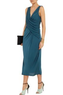 Vionnet wrap-effect stretch silk dress