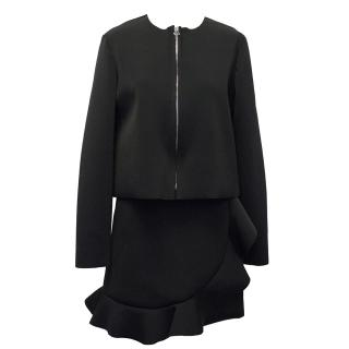 J W Anderson Black Long-Sleeve Zip Top & Skirt