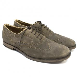 Bottega Veneta Light Brown Suede Oxfords