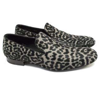 Yves Saint Laurent Pony Hair Loafers