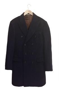 Brunello Cucinelli Blue Alpaca/Wool coat