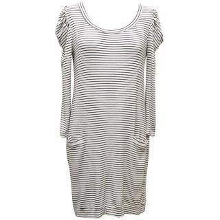 Sandro Long Sleeved Striped Dress