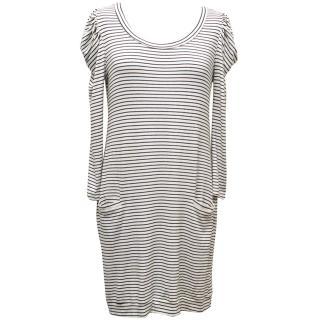 Sandro Long Sleeved Striped Dress