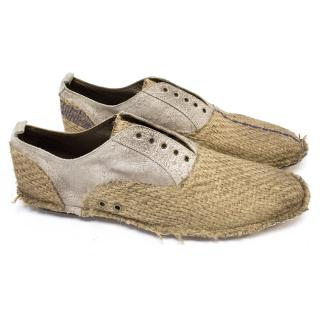 Dolce & Gabbana Knitted Straw Slip Ons