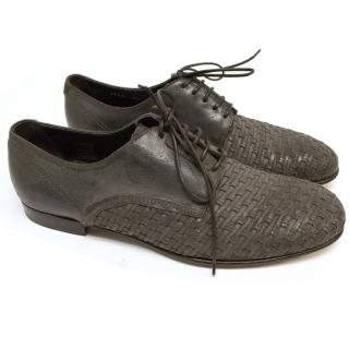 Dolce and Gabbana Brown Woven Shoes