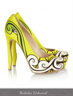 Nicholas Kirkwoood Neon satin Zingy Stilletos