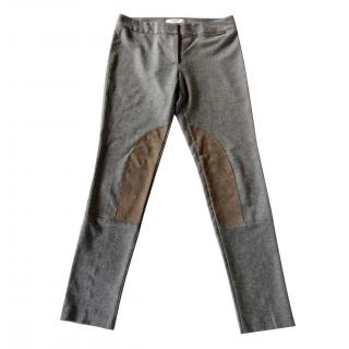 Blugirl-Blumarine trousers with suede knee patches