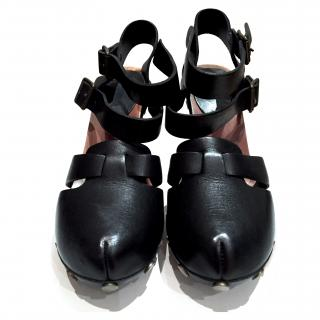 See by Chloe Leather and wooden shoes