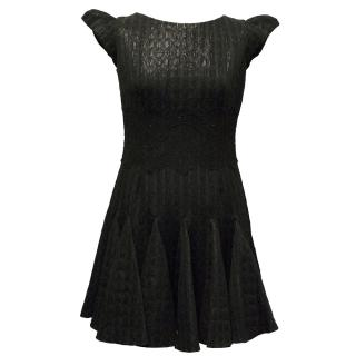 Philip Armstrong Black Metallic Skater Dress