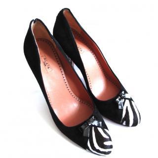 Azzedine Alaia Zebra-Suede Heels UK7 40