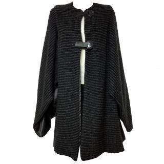 Giorgio Armani Black Label mohair & silk cardigan/cape