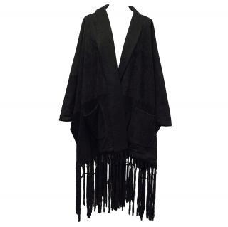 Loro Piana Black Suede Coat