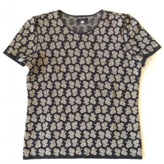 Giorgio Armani Black Label short sleeve intarsia sweater