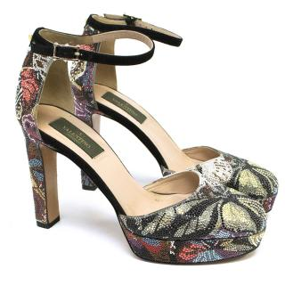 Valentino Jewelled Camu Butterfly Crystal Pumps