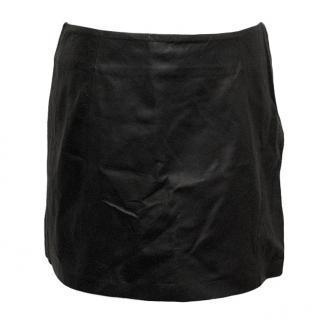 Alexander Wang Leather Panelled Mini Skirt