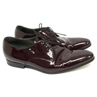 Lanvin Maroon Patent Calfskin Formal Shoes