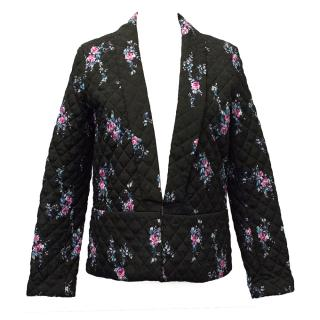 Claudie Pierlot Black floral quilted Blazer jacket