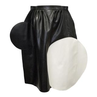 Junya Watanabe x Comme des Garcons Midi skirt with circle applique