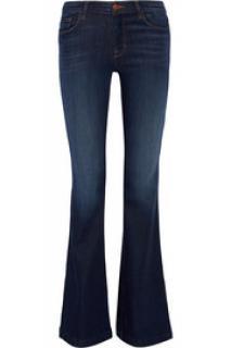 J Brand High Waisted Flared Jeans Navy Denim