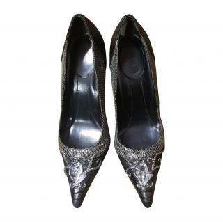 Baby Phat Bronze and Silver Pumps