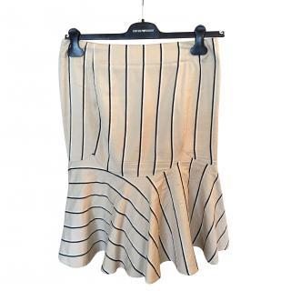 Emporio Armani Fitted / Peplum Striped Skirt