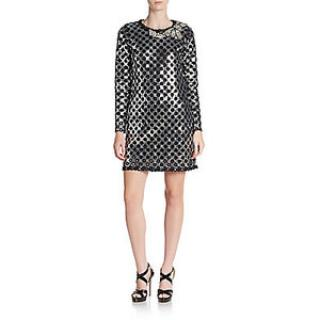 Marc Jacobs silver black dress