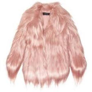 Gucci  Runway Baby Pink Goat Hair Coat