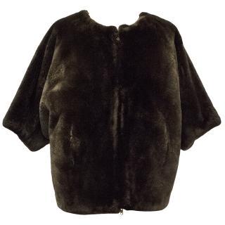 Marni Brown Beaver Fur Jacket