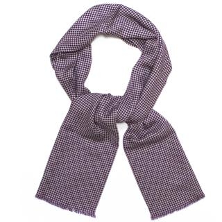 Richard James Purple Houndstooth Scarf