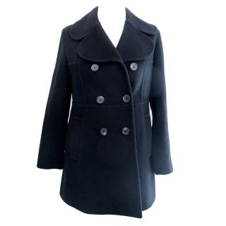 Anne Klein Wool/Cashmere black peacoat