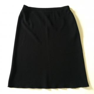 Georges Rech Synonyme black crepe skirt