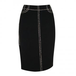 MARC CAIN cotton knit skirt, size 2