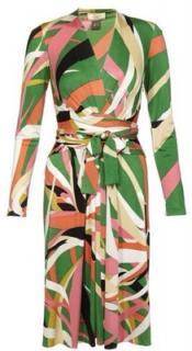 Issa London Green Dress in Mojito Print UK10 US6