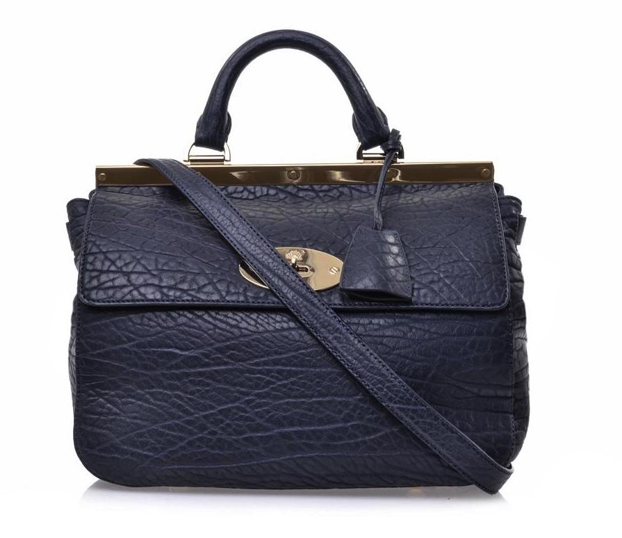 92378448da1c Mulberry Midnight Blue Large Suffolk Shrunken Calf Leather Receip ...