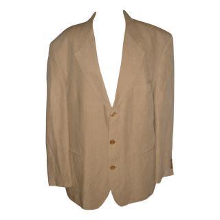 BOSS beige linen blazer