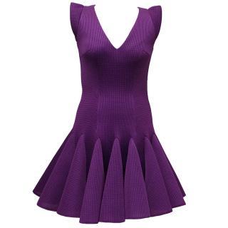Philip Armstrong Purple Sleeveless Skater Dress