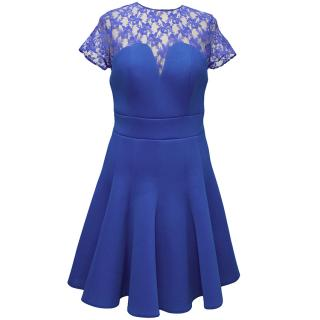 Philip Armstrong sapphire blue shortsleeve dress