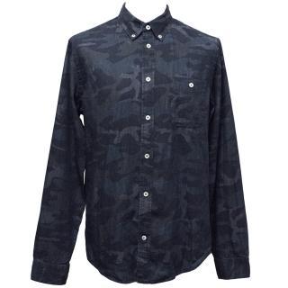 NN 07 Denim Camo Print Shirt