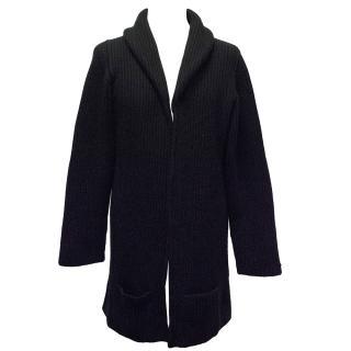 Brooks Brothers Black Oversized Cashmere Cardigan