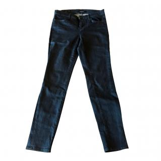 J Brand Super-Skinny Mid-Rise Jeans in Serpentine Wash