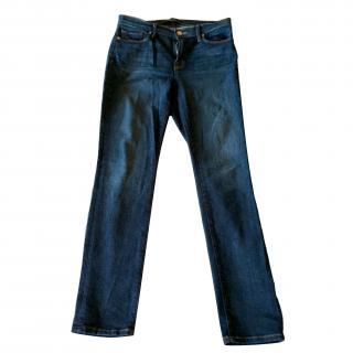 J Brand Mid-Rise Skinny Jeans in Heartbreaker