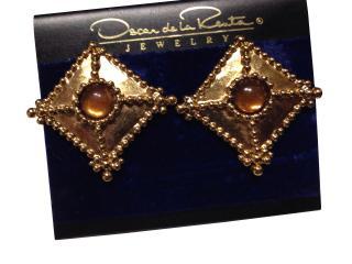 Oscar de la Renta Runway Earrings