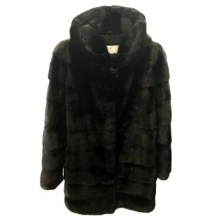 Mink Fur Black Fur Coat