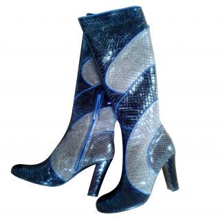 Emanuel Ungaro python boots