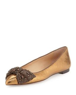 Tory burch Vanessa Crystal-Bow Flat
