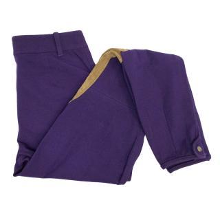 Ralph Lauren Purple and Tan Jodhpurs