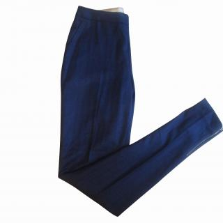 PAUL SMITH Mainline Navy Black Slim Leg Trousers