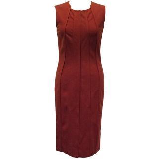 Diane Von Furstenberg Red Sleeveless Dress